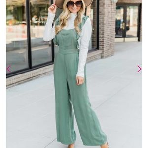 🆕Pink Lily green jumpsuit